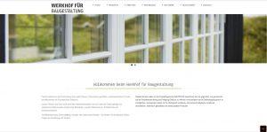webseitenentwicklung Werkhof Startseite