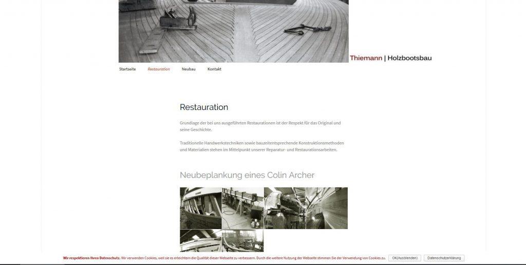 holzbootsbau webseitenerstellung bremen